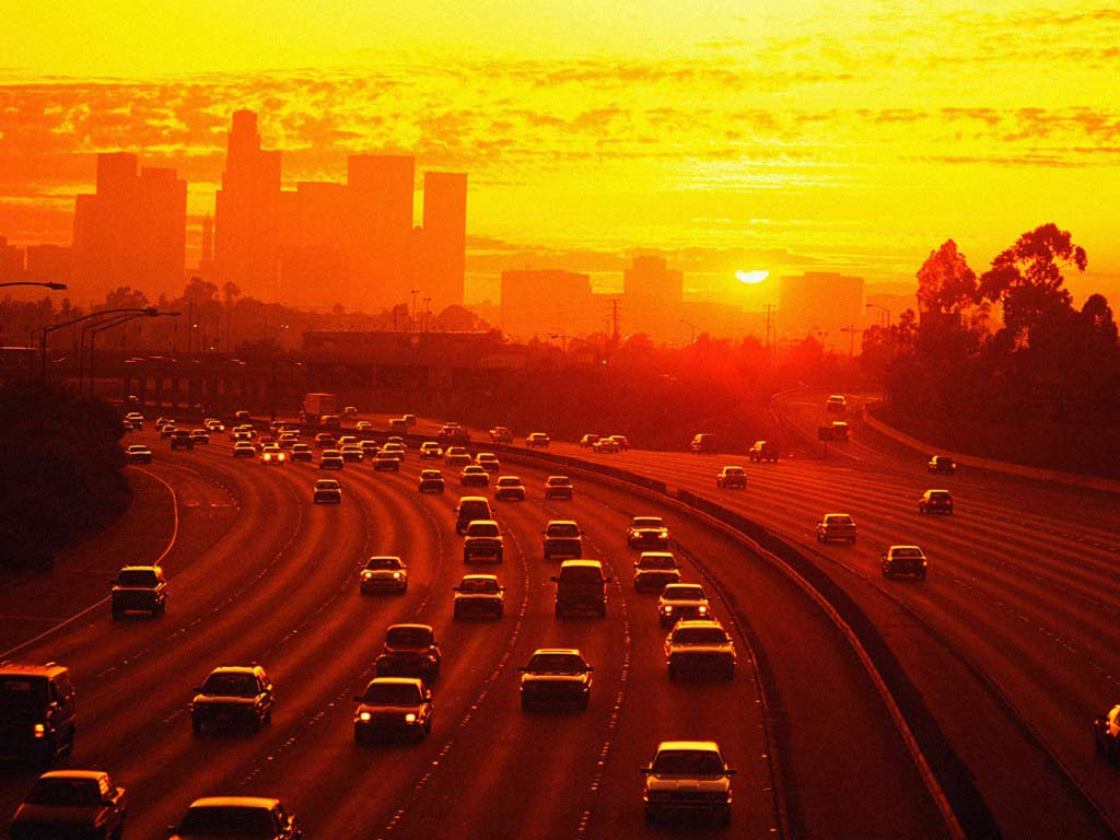 Sunset-Los-Angeles-Street-Wallpaper
